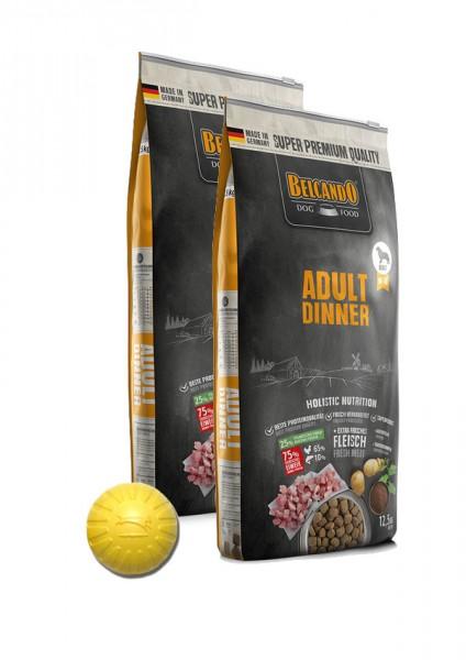 2x 12,5kg Belcando® Adult Dinner + Geschenk