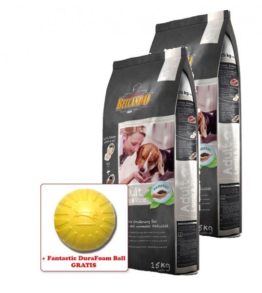 2x 15kg Belcando® Adult Lamb & Rice