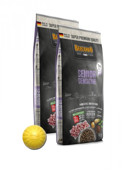 2x 12,5kg Belcando® Senior Sensitive + Geschenk