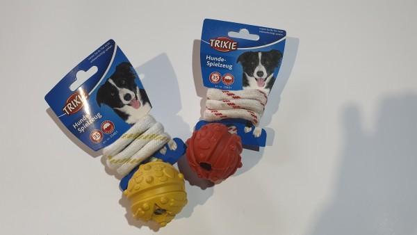 Naturgummi-Spielzeug Ball am Seil