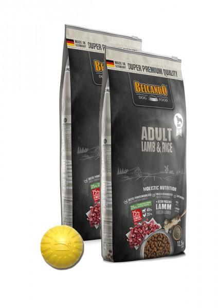 2x 12,5kg Belcando® Adult Lamb & Rice + Geschenk