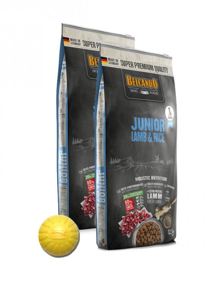 2x 12,5kg Belcando® Junior Lamb & Rice + Geschenk